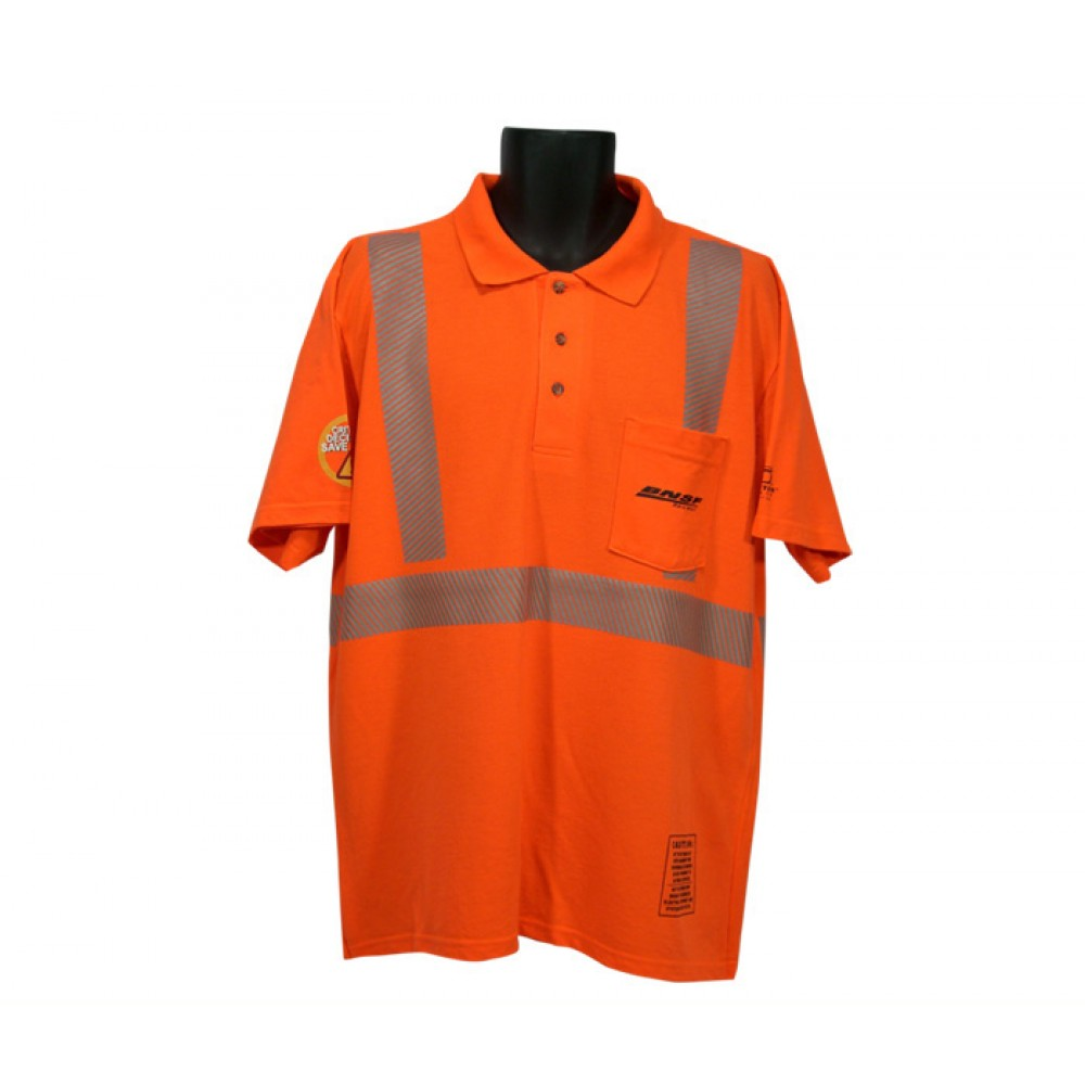Class ii 100 polyester pique polo shirt with pocket for Hi vis polo shirts with pocket