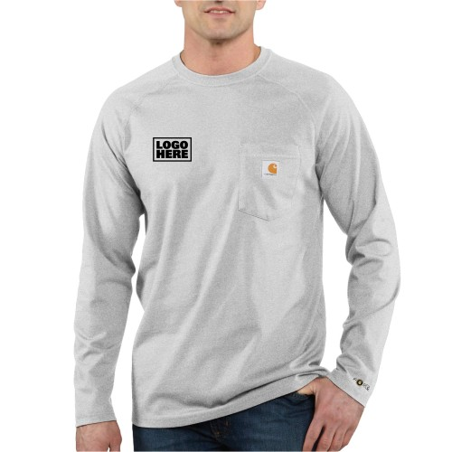 Carhartt Force Cotton Delmont Long-Sleeve T-Shirt