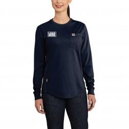 Carhartt Women's Flame-Resistant Force Cotton Long-Sleeve Crewneck T-Shirt