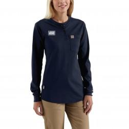 Carhartt Women's Flame-Resistant Force Cotton Long-Sleeve Henley