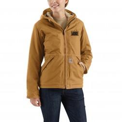 Carhartt Women's Flame-Resistant Full Swing® Quick Duck® Jacket/Sherpa-Lined