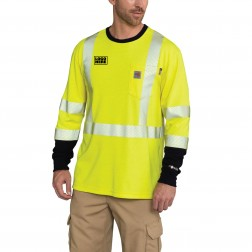 Carhartt Flame-Resistant High-Visibility Force Long-Sleeve T-Shirt -Class 3
